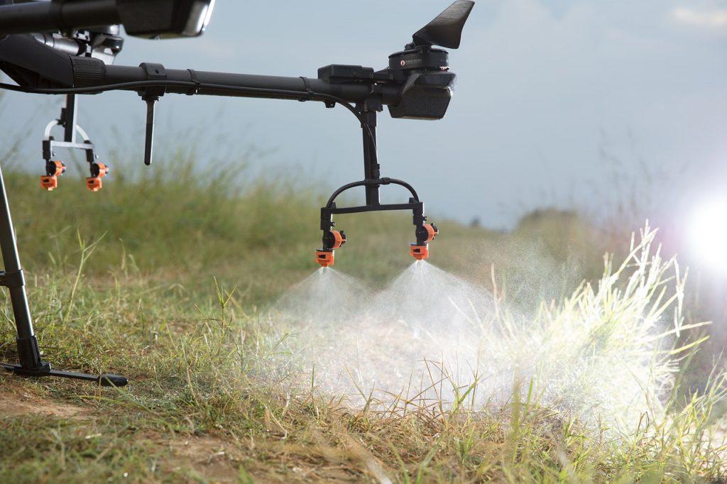 dron fumigar coronavirus