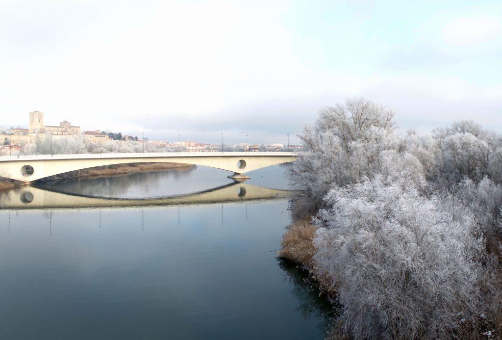 Puente de los Poetas de Zamora con la Cencellada